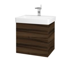 Dreja - Kúpeľňová skriňa VARIANTE SZZ2 60 - D06 Ořech / D06 Ořech (162900)