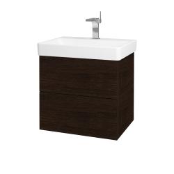 Dreja - Kúpeľňová skriňa VARIANTE SZZ2 60 - D08 Wenge / D08 Wenge (162917)
