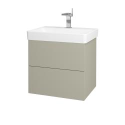 Dreja - Kúpeľňová skriňa VARIANTE SZZ2 60 - L04 Béžová vysoký lesk / L04 Béžová vysoký lesk (162962)