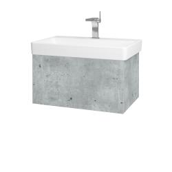 Dreja - Kúpeľňová skriňa VARIANTE SZZ 70 - D01 Beton / D01 Beton (163136)