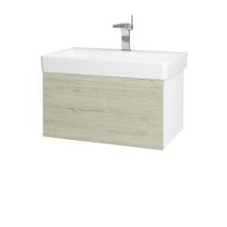 Dreja - Kúpeľňová skriňa VARIANTE SZZ 70 - N01 Bílá lesk / D05 Oregon (163297)