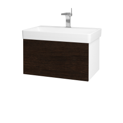 Dreja - Kúpeľňová skriňa VARIANTE SZZ 70 - N01 Bílá lesk / D08 Wenge (163310)