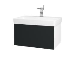Dreja - Kúpeľňová skriňa VARIANTE SZZ 70 - N01 Bílá lesk / L03 Antracit vysoký lesk (163365)