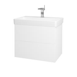 Dreja - Kúpeľňová skriňa VARIANTE SZZ2 70 - N01 Bílá lesk / L01 Bílá vysoký lesk (163631)