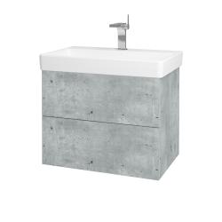 Dreja - Kúpeľňová skriňa VARIANTE SZZ2 70 - D01 Beton / D01 Beton (163419)