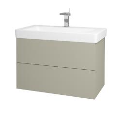 Dreja - Kúpeľňová skriňa VARIANTE SZZ2 85 - L04 Béžová vysoký lesk / L04 Béžová vysoký lesk (164072)