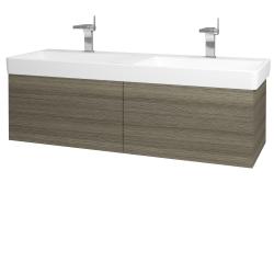 Dreja - Kúpeľňová skriňa VARIANTE SZZ2 130 - D03 Cafe / D03 Cafe (164812)
