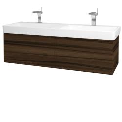 Dreja - Kúpeľňová skriňa VARIANTE SZZ2 130 - D06 Ořech / D06 Ořech (164843)