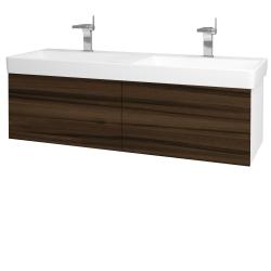 Dreja - Kúpeľňová skriňa VARIANTE SZZ2 130 - N01 Bílá lesk / D06 Ořech (164966)