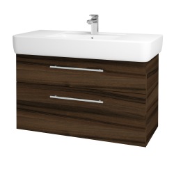Dreja - Kúpeľňová skriňa Q MAX SZZ2 100 - D06 Ořech / Úchytka T02 / D06 Ořech (132057B)