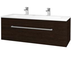 Dreja - Kúpeľňová skriňa ASTON SZZ 120 - D08 Wenge / Úchytka T03 / D08 Wenge (131500CU)