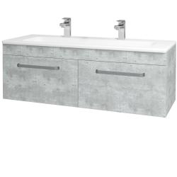 Dreja - Kúpeľňová skriňa ASTON SZZ2 120 - D01 Beton / Úchytka T01 / D01 Beton (131517AU)