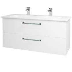 Dreja - Kúpeľňová skriňa GIO SZZ2 120 - N01 Bílá lesk / Úchytka T03 / L01 Bílá vysoký lesk (130800CU)