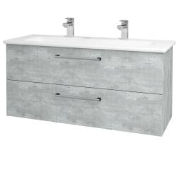 Dreja - Kúpeľňová skriňa GIO SZZ2 120 - D01 Beton / Úchytka T03 / D01 Beton (130039CU)