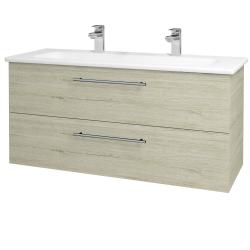 Dreja - Kúpeľňová skriňa GIO SZZ2 120 - D05 Oregon / Úchytka T02 / D05 Oregon (130077BU)