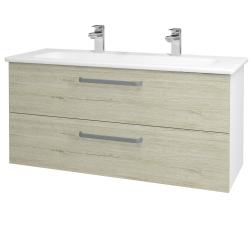 Dreja - Kúpeľňová skriňa GIO SZZ2 120 - N01 Bílá lesk / Úchytka T01 / D05 Oregon (129934AU)