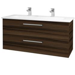 Dreja - Kúpeľňová skriňa GIO SZZ2 120 - D06 Ořech / Úchytka T03 / D06 Ořech (130084CU)