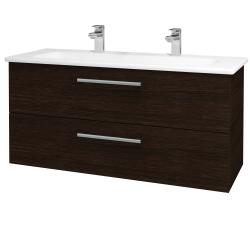 Dreja - Kúpeľňová skriňa GIO SZZ2 120 - D08 Wenge / Úchytka T03 / D08 Wenge (130756CU)