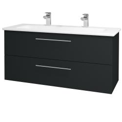 Dreja - Kúpeľňová skriňa GIO SZZ2 120 - L03 Antracit vysoký lesk / Úchytka T02 / L03 Antracit vysoký lesk (130145BU)