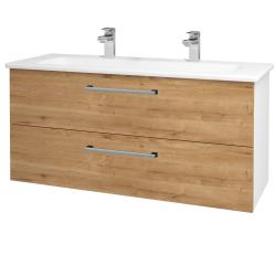 Dreja - Kúpeľňová skriňa GIO SZZ2 120 - N01 Bílá lesk / Úchytka T03 / D09 Arlington (129965CU)