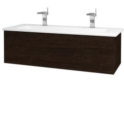 Dreja - Kúpeľňová skriňa VARIANTE SZZ 120 (umývadlo Euphoria) - D08 Wenge / D08 Wenge (160951U)