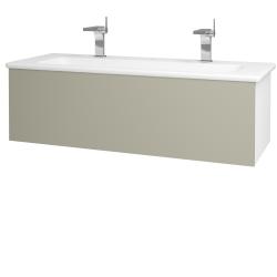 Dreja - Kúpeľňová skriňa VARIANTE SZZ 120 (umývadlo Euphoria) - N01 Bílá lesk / L04 Béžová vysoký lesk (161132U)