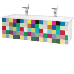 Dreja - Kúpeľňová skriňa VARIANTE SZZ 120 (umývadlo Euphoria) - N01 Bílá lesk / IND Individual (161101U)