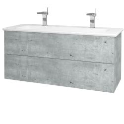 Dreja - Kúpeľňová skriňa VARIANTE SZZ2 120 (umývadlo Euphoria) - D01 Beton / D01 Beton (161170U)