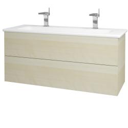 Dreja - Kúpeľňová skriňa VARIANTE SZZ2 120 (umývadlo Euphoria) - D02 Bříza / D02 Bříza (161187U)