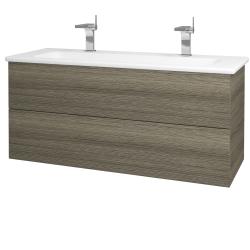 Dreja - Kúpeľňová skriňa VARIANTE SZZ2 120 (umývadlo Euphoria) - D03 Cafe / D03 Cafe (161194U)