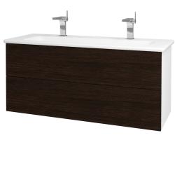 Dreja - Kúpeľňová skriňa VARIANTE SZZ2 120 (umývadlo Euphoria) - N01 Bílá lesk / D08 Wenge (161354U)