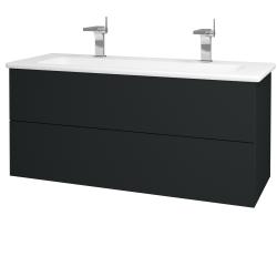 Dreja - Kúpeľňová skriňa VARIANTE SZZ2 120 (umývadlo Euphoria) - L03 Antracit vysoký lesk / L03 Antracit vysoký lesk (161279U)