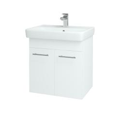 Dreja - Kúpeľňová skriňa Q DVEROVÉ SZD2 60 - N01 Bílá lesk / Úchytka T02 / L01 Bílá vysoký lesk (12734B)