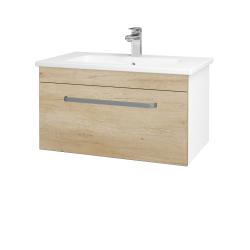 Dreja - Kúpeľňová skriňa ASTON SZZ 80 - N01 Bílá lesk / Úchytka T01 / D15 Nebraska (173937A)
