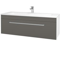 Dreja - Kúpeľňová skriňa ASTON SZZ 120 - N01 Bílá lesk / Úchytka T03 / N06 Lava (200152C)