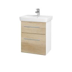 Dreja - Kúpeľňová skriňa GO SZZ2 50 - N01 Bílá lesk / Úchytka T02 / D15 Nebraska (204495B)