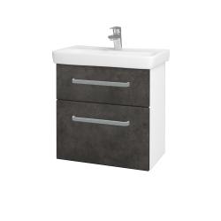 Dreja - Kúpeľňová skriňa GO SZZ2 60 - N01 Bílá lesk / Úchytka T01 / D16 Beton tmavý (204884A)