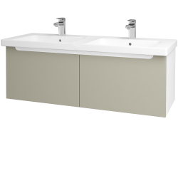 Dreja - Kúpeľňová skriňa COLOR SZZ2 125 - N01 Bílá lesk / M05 Béžová mat (201869)