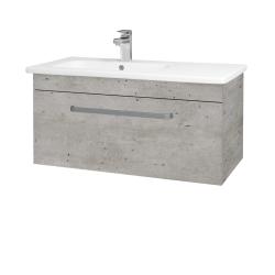 Dreja - Kúpeľňová skriňa ASTON SZZ 90 - N01 Bílá lesk / Úchytka T01 / D15 Nebraska (199739A)