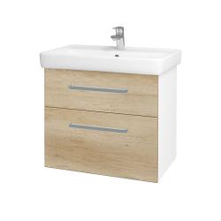 Dreja - Kúpeľňová skriňa Q MAX SZZ2 70 - N01 Bílá lesk / Úchytka T01 / D15 Nebraska (198404A)
