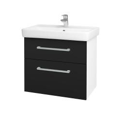 Dreja - Kúpeľňová skriňa Q MAX SZZ2 70 - N01 Bílá lesk / Úchytka T03 / N08 Cosmo (198480C)