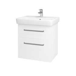 Dreja - Kúpeľňová skriňa Q MAX SZZ2 60 - N01 Bílá lesk / Úchytka T01 / M01 Bílá mat (198206A)