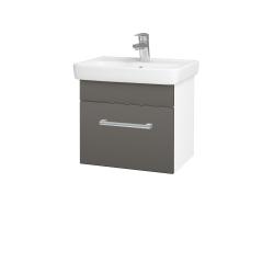 Dreja - Kúpeľňová skriňa SOLO SZZ 50 - N01 Bílá lesk / Úchytka T03 / N06 Lava (205379C)