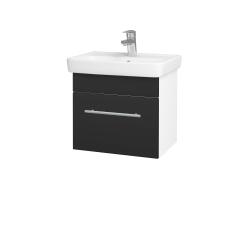 Dreja - Kúpeľňová skriňa SOLO SZZ 50 - N01 Bílá lesk / Úchytka T02 / N03 Graphite (205362B)