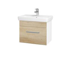 Dreja - Kúpeľňová skriňa SOLO SZZ 55 - N01 Bílá lesk / Úchytka T01 / D15 Nebraska (205515A)