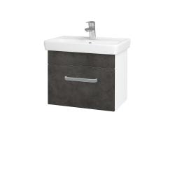 Dreja - Kúpeľňová skriňa SOLO SZZ 55 - N01 Bílá lesk / Úchytka T01 / D16 Beton tmavý (205522A)