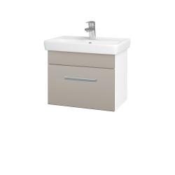 Dreja - Kúpeľňová skriňa SOLO SZZ 55 - N01 Bílá lesk / Úchytka T01 / N07 Stone (205584A)