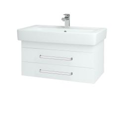 Dreja - Kúpeľňová skriňa Q ZÁSUVKOVÉ SZZ2 80 - N01 Bílá lesk / Úchytka T01 / L01 Bílá vysoký lesk (12925A)