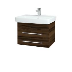 Dreja - Kúpeľňová skriňa Q ZÁSUVKOVÉ SZZ2 60 - D06 Ořech / Úchytka T03 / D06 Ořech (151843C)