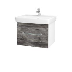 Dreja - Kúpeľňová skriňa Q UNO SZZ 60 - N01 Bílá lesk / Úchytka T03 / D10 Borovice Jackson (208509C)